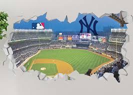 New York Yankees Yankee Stadium Smashed 3d Wall Decal Sticker Decor Vinyl Op104