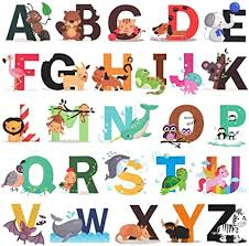 Amazon Com Alphabet Wall Decals H2mtool Removable Animal Abc Wall Stickers For Kids Nursery Room Decor Alphabet Arts Crafts Sewing