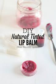 diy natural tinted lip balm with easy