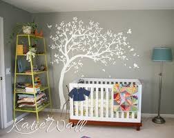 White Tree Wall Decals Nursery Large Wall Decal Kids Room Wall Etsy