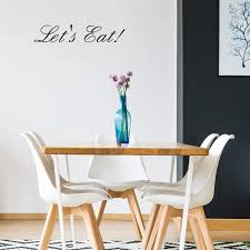 Amazon Com Let S Eat Kitchen Quotes Wall Art Vinyl Decal 5 X 23 Decoration Vinyl Sticker Motivational Wall Art Decal Inspirational Kitchen Decor Trendy Wall Art Arts Crafts Sewing