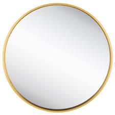 round gold metal wall mirror mirror