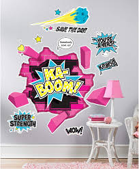 Birthday Express Superhero Girl Room Decor Giant Wall Decals Amazon Com