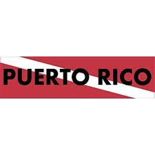 15 X 4 Puerto Rico Scuba Diver Down Flag Bumper Sticker Window Stickers Vinyl Decals Car Decal Walmart Com Walmart Com