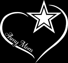 Army Mom Curve Heart Decal Motherproud
