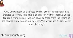 billy graham quote about holy spirit love reason today