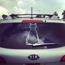 The Cats Tail Of The Window Decal Is The Wiper Window Decals Cat Tail Cat Window