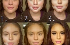 make up wajah lonjong ala model kini
