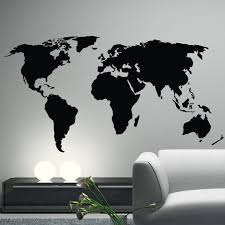 Large World Map Wall Decal World Map Decal Elegant World Map Wall Decal Sticker World Printable Map Collection