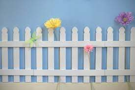 White Wooden Picket Fences For Kids Room Wall Border Garden Room Decor Hearttoheart Wall Decor Bedroom Girls Kids Room Wall Art Wall Kids