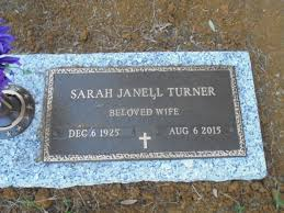 Sarah Janell Rowe Turner (1925-2015) - Find A Grave Memorial