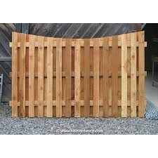 Shadowbox Wood Fence Panels Concave Top Cedar Hoover Fence Co