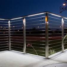 China Modern Balcony Fence Design Stainless Steel Balcony Cable Railing China Building Material Construction Material