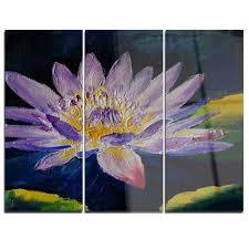 design art purple lotus flower