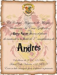 Fiesta Harry Potter Invitaciones De Harry Potter Harry Potter