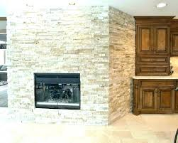 stone stacked stone veneer fireplace