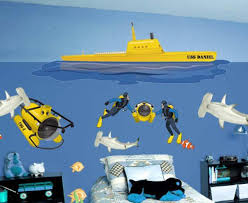 Submarine Murals For Kids Room Walls Personalized Murals