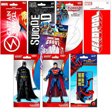 Amazon Com Superhero Decals Ultimate Set 8 Premium Decal Stickers For Laptop Car Macbook Guardians Of The Galaxy Spiderman Superman Batman And More Toys Games
