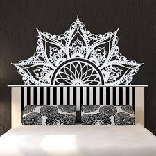 Bohemiax Style Wall Stickers Living Room Wall Decal Wallpaper Girl Baby Bedroom Decoration Half Mandala Design Mural Home Decora Wall Stickers Aliexpress