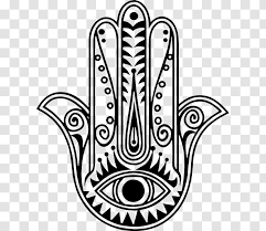 Hamsa Tattoo Wall Decal Amulet Evil Eye Middle East Transparent Png