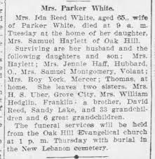 Obituary for Ida Reed White_1932 - Newspapers.com
