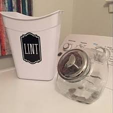 Lint Canister Decal Lint Vinyl Decal For Home Laundry Etsy