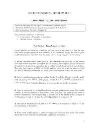 Microeconomics - Problem SET 1 text 2019 20 - 30055 - StuDocu