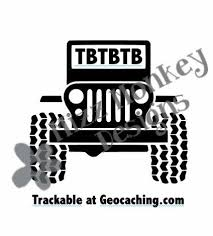 Jeep Geocaching Trackable Tb Travel Bug Travelbug Vinyl Car Etsy Stickers Custom Personalized Decals Geocaching
