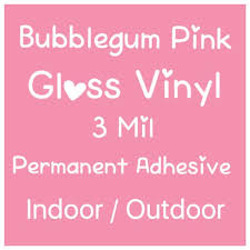 Pink Vinyl Bubblegum Pink Gloss Vinyl Permanent Adhesive Vinyl Craft Vinyl Sticker Decal Vinyl Outdoor Silhouette Cricut Oracle By Live Laugh Love Ocean Catch My Party