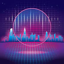 skyline design background vector image