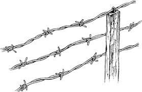 Clip Art Fences Often Used For Fences A Fence Made Of Barbed Wire A Barbed Wire Fence Barbed Wire Fencing Art Inspiration Zen Doodle