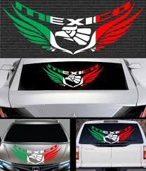1x Mexico Flag Car Decal Mexican Flag Decal 5875 Car Decals Flag Decal Mexican Flags
