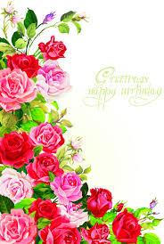 happy birthday flowers greeting cards