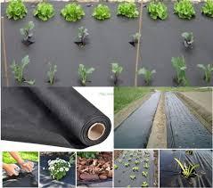 plastic vegetable garden weed mats