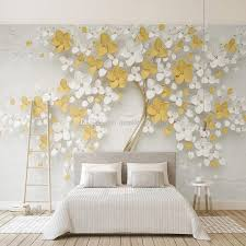 3d Embossed Flowers Wallpaper Abstract Art Trees Wall Mural Wallpaper Rolls Kids Bedroom Tv Background Wall Covering Lemon Yellow Decoration It Hd Wallpaper It Hd Wallpapers From Monkey Zabrina 15 28 Dhgate Com