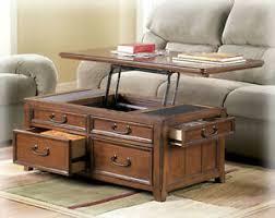 trunk flip up storage drawers wood