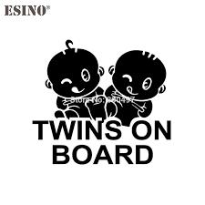 Newest Design Funny Twins On Board Car Creative Decorative Auto Decal Cartoon Car Reflective Car Body Decal Pattern Vinyl Car Stickers Aliexpress