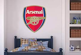 Amazon Com Official Arsenal Football Club Crest Mural Gunners Wall Sticker Set Decal Vinyl Poster Print Mural 90cm Height Baby