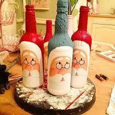 https://bottlecrafts.decordiyhouse.com/23262-2/- en 2020 | Decorar botellas  de cristal, Cómo decorar botellas, Botellas decoradas para navidad