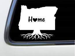 Amazon Com Thatlilcabin Oregon State Home Roots 6 Oregon Decal As1110 Automotive