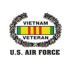 Vietnam Veteran Wreath U S Air Force Inside Window Decal Flying Tigers Surplus