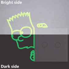 Cartoon Simpson Glowing Switch Sticker Kids Rooms Diy Personalized Decoration Luminous Wall Stickers Funny Bed Decal Stickers Wall Phrases Stickers Wall Quote Decals From Chairdesk 4 11 Dhgate Com