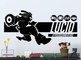 Overwatch Lucio Personalized Vinyl Wall Decal Decals By Droids