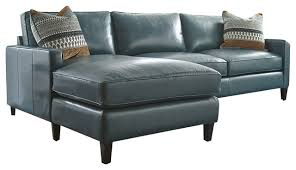 turquoise leather sectional with chaise