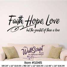 Bible Verse Wall Art Faith Hope Love Wall Decal Inspirational Wall Graphic