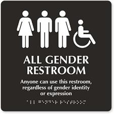gender inclusive restroom signs fights