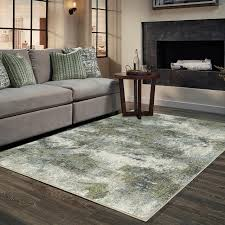 evolution blue abstract rug