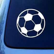 Soccer Ball Football Car Truck Notebook Vinyl Decal Sticker 5 5 White