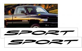 Graphic Express 1999 01 Dodge 1500 Ram Sport Name Decal Set
