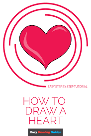 how to draw a heart step by step